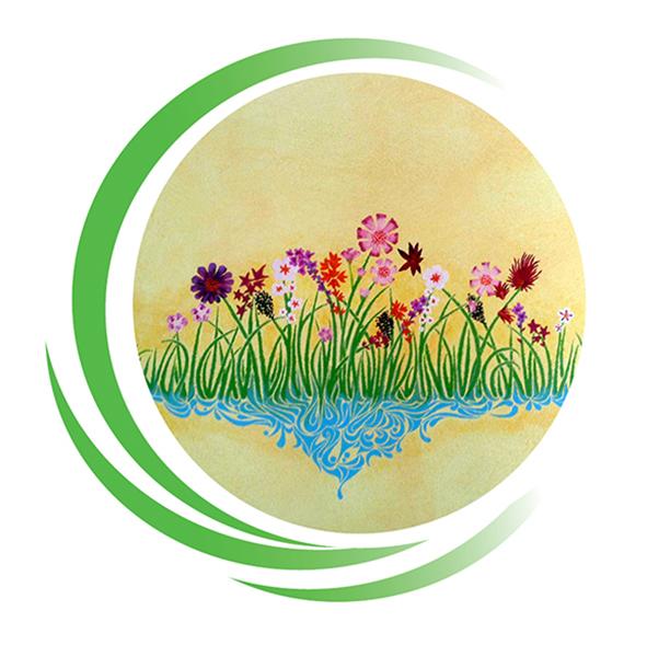 Zeichnung Blumenwiese